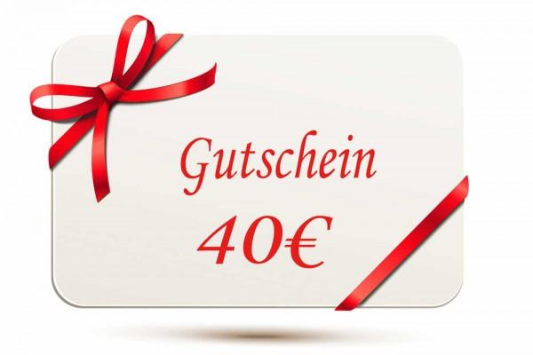 Gutschein 40EUR